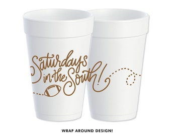 Foam Cups | Saturday's in the South (brown)