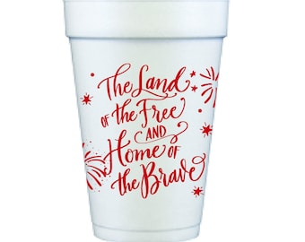 Foam Cups   4th of July (red)