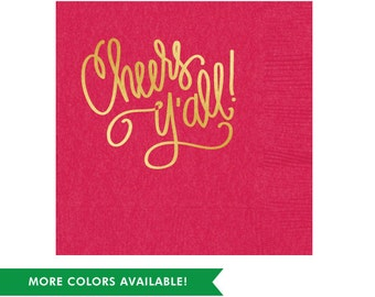 Cheers Y'all! Napkins (Qty 25)
