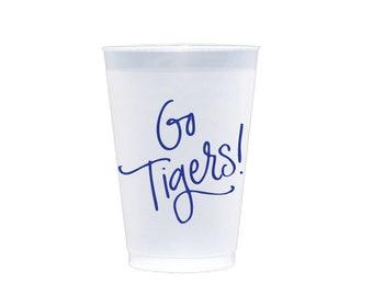 GO TIGERS! | Reusable Flex Cups (blue)
