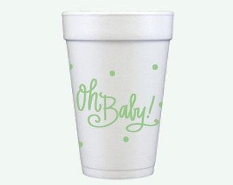 Oh Baby! (green) | Foam Cups