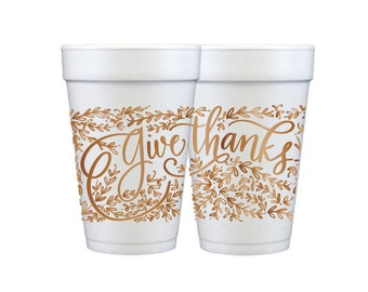 Foam Cups | Give Thanks (copper)