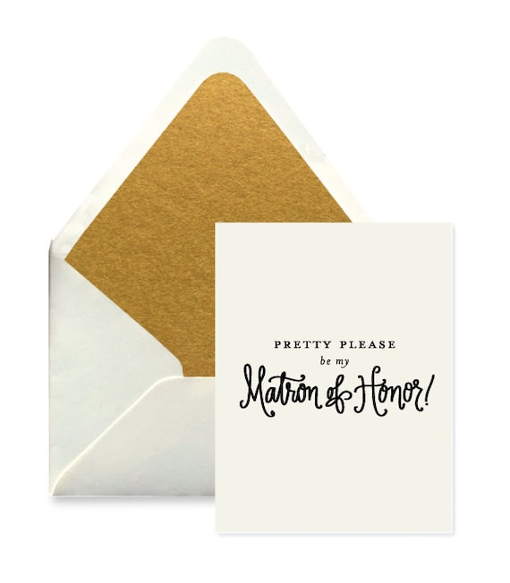 Matron of Honor Card