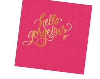 Napkins | Hello Gorgeous (hot pink)
