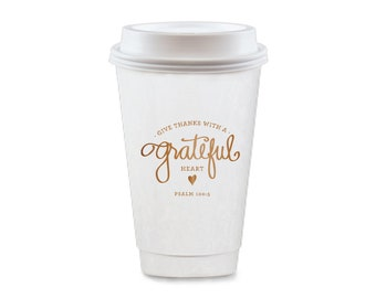 To-Go Coffee Cups | Grateful Heart (copper)