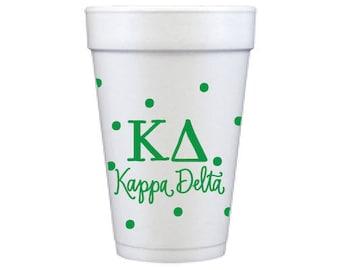 Kappa Delta with Dots | Foam Cups  (Qty 12)