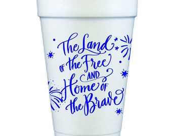 Foam Cups   4th of July (blue)