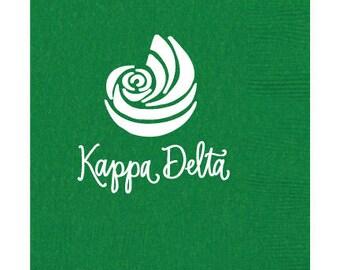 Kappa Delta   Beverage Napkins (Qty 25)