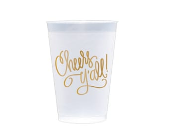Frost Flex Cups | Cheers Y'all! (gold)