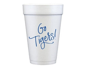 GO TIGERS | Foam Cups (blue)