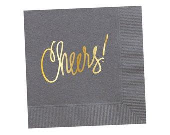 Napkins | Cheers - Grey (in stock)