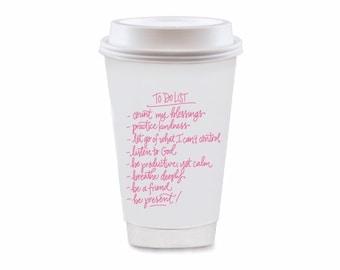 To Do List | To-Go Coffee Cups Set