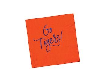 GO TIGERS | Napkins (orange & blue)