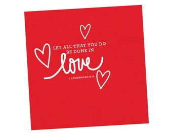Napkins | Love Scripture (red)