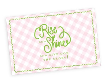 Paper Placemats | Rise and Shine (pink gingham)