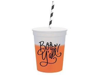 Boo Y'all    Color Changing Stadium Cups