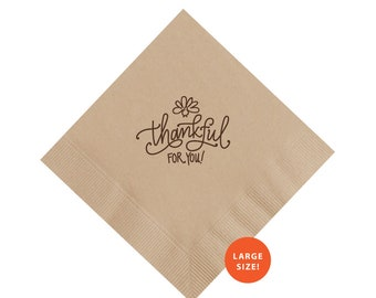 Napkins | Thankful for You (LARGE!)