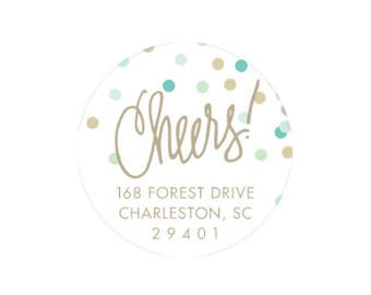 Cheers Stickers (blues) - Personalized!
