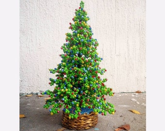 beaded christmas tree new year gift christmas gift seed bead tree artificial christmas tree decorated pine tree