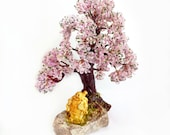 Spring blooming wish-fulfilling tree made of seed beads and wire - miniature tree - wire sculpture - beaded bonsai - feng shui