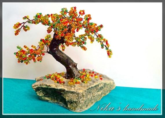 perles bonsa petit arbre artificiel automne bonsa. Black Bedroom Furniture Sets. Home Design Ideas