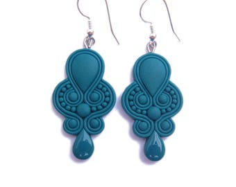 Teal Earrings