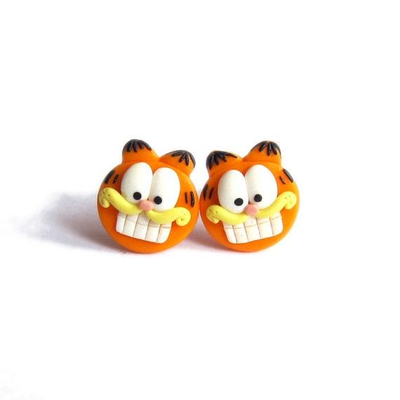 Funny hecho a mano Fiesta De Jardín Naranja Fox Animal Pendientes Niños Niñas Idea de Regalo