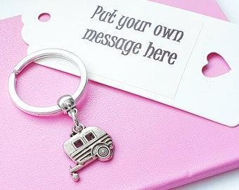 Personalised Caravan Keyring-bag tag-personalized-van-camping