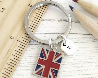 UNION JACK Metal KEYRING Pound Sign British Flag London England GB UK Souvenirs
