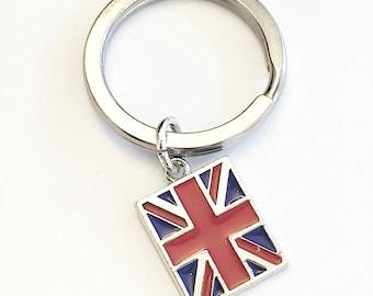 Union Jack Flag Keyring Key Ring UK Britain GB London United Kingdom Souvenir