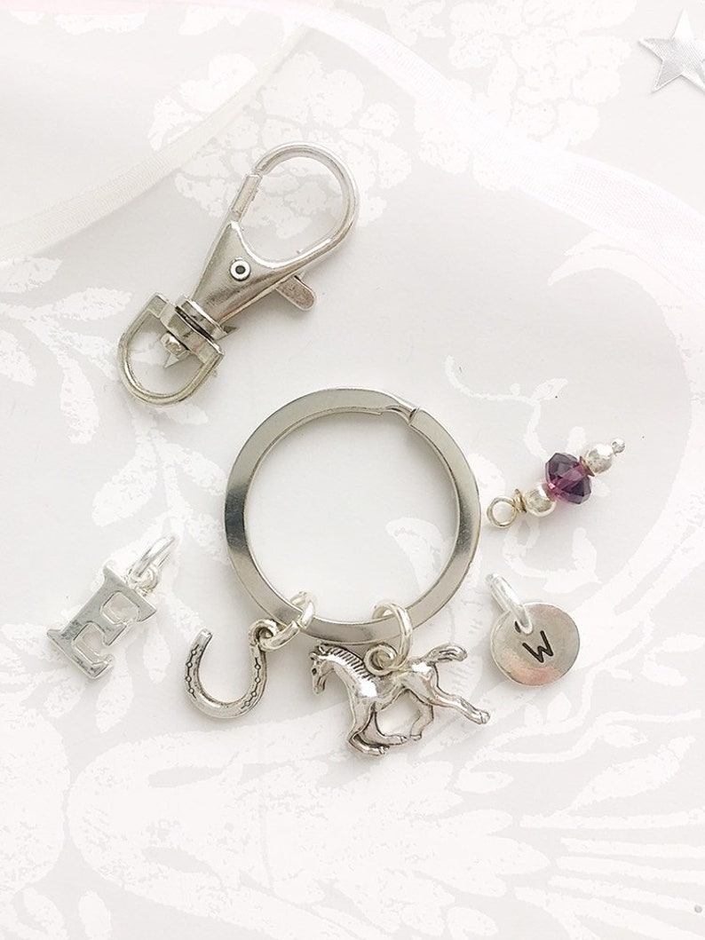 1 X 7 STYLES HORSE THEMED SILVER HORSE CLIP-ON-CHARM,BAGS//BRACELETS//KEYRING