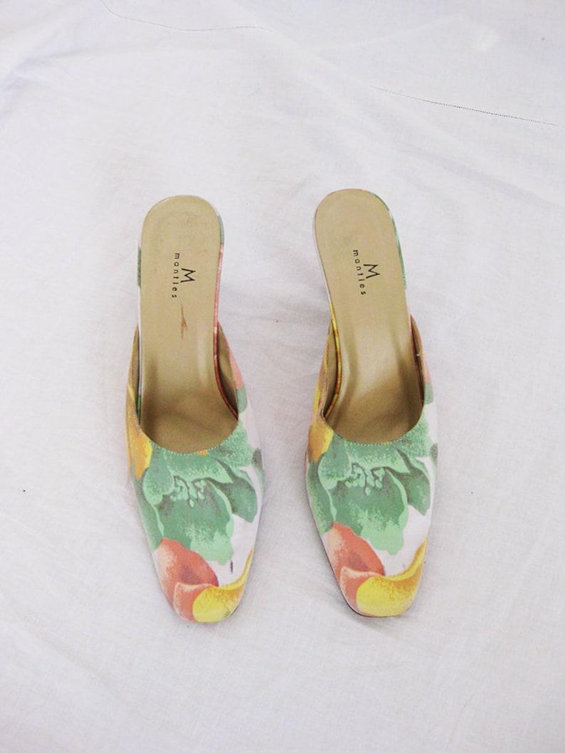 51bf37c376d16 Y2K Floral Satin Mules 7.5