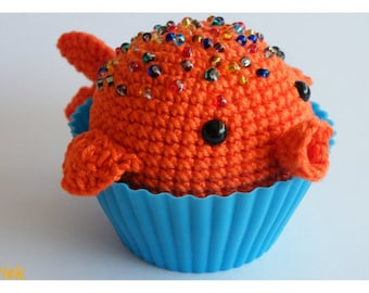 Dutch crochet pattern: cupcake jellyfish and goldfish
