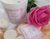 GK Nails | Rose Quartz Candle | Fall in love with Yourself | Rose | Candle | Artisan Products | Limited edition