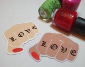 GK Nails | Stickers | Love Fist Pump | Self Love Sticker | Valentines Sticker | Galentines | Stationary