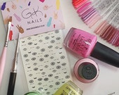 GK Nails | Eye Nail Decals | Nail Art | Waterslide Nail decals | Nail Decals | Evil eye | Eye Lashes