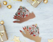 GK Nails   Christmas   Handful of Christmas   Die Cut Sticker   Stationary