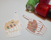 GK Nails | Stickers | Relax your Hand | Nail Tech Stickers | Nails | Stationary