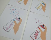 GK Nails | Postcards | Spray can of.....