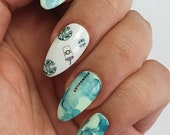 GK Nails Coffee Lovers Waterslide Nail Decals