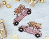 GK Nails   Christmas   Driving home for Christmas   Die Cut Sticker   Stationary
