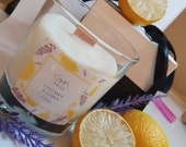 GK Nails   Lemon & Lavender Candle   Soy Wax Candle