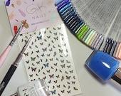 GK Nails | Butterfly Nail Art | Nail Art Decals | Butterfly Nail Decals | Waterslide Nail Decals | Nail Art | DIY Nail Art