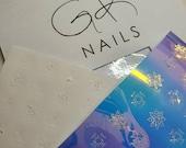 Snowflake | Christmas Nail Art | Nail art stickers