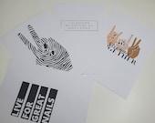 Black & White Postcard Set   GK Nails   Nail Tech   Stationary