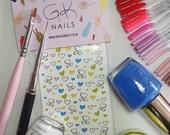 GK Nails | Love Heart Nail Decals | Love Hearts | Valentines Nail art | Nail Decals | Waterslide Nail Decals