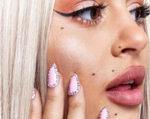 GK Nails Instant Manicure - Pink Diamante Jaded London Press on Nails