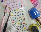 GK Nails | Diamond Nail Decals | Diamonds | Nail Decals | Waterslide Nail Decals |Nail Art