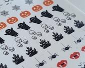 GK Nails | Halloween Nail Decals | Nail Art | Nail decals | Halloween | DIY Nail Art |Halloween Nails