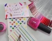 GK Nails | Heart Nail Decals | Multi coloured hearts | Nail Decals | Waterslide Nail Decals | Nail Art | DIY Nail art